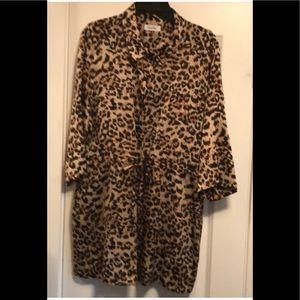 Leopard Print Tunic Top, XL